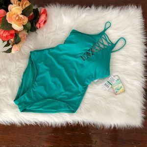 Hobie One Piece Swimsuit Teal Turquoise NWT